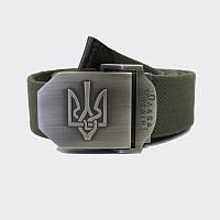Ремень с Гербом Украины - олива