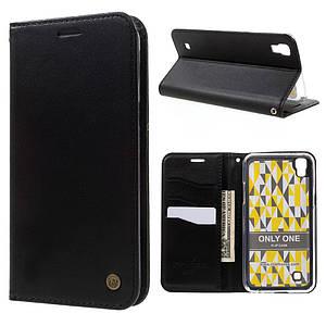Чехол книжка для LG X Style K200DS боковой с отсеком для визиток, ROAR KOREA ONLY ONE, Черный