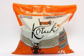 Наполнитель Котик бентонитовый мелкий (оранжевый) 0,3-1,5мм 3кг