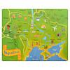 Деревянная игрушка пазлы карта, E12542