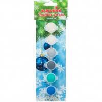 """Акриловые краски """"Краски зимы"""", 6 цветов, Идейка, 98105"""