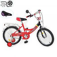 Детский двухколесный велосипед 16 дюймов (арт. P 1631) красный