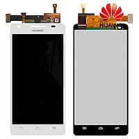 Дисплейный модуль (дисплей + сенсор) для Huawei HN3-U00 Honor 3, белый, оригинал