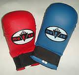 Перчатки накладки для карате Matsa (синие)