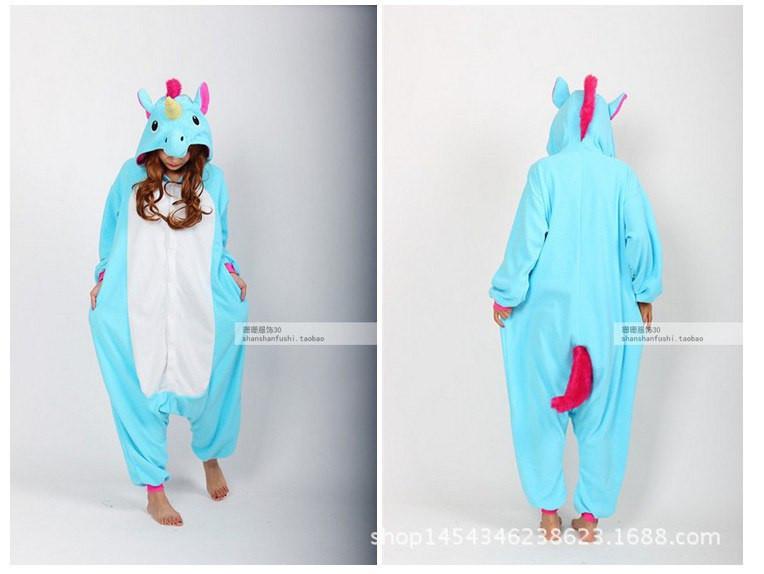 Пижама-кигуруми единорог голубая 19e0246eb2ac5