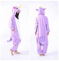 Пижама-кигуруми единорог сиреневого цвета