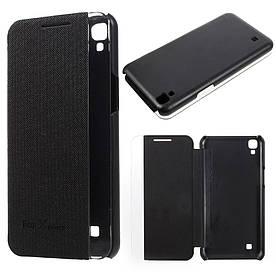 Чехол книжка для LG X Power K220DS боковой ORIGINAL, Smart Cover, Черный
