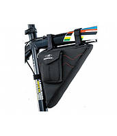 Сумка TW TY-09133BR треугольная, наружный карман для ценных предметов, размер: 27x6x15cm, черный