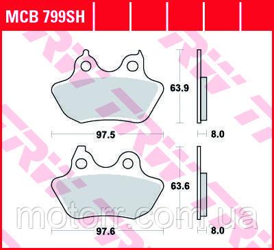 Тормозные колодки TRW / LUCAS MCB799SH