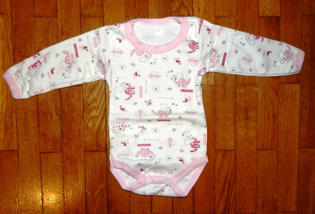 Бодіки для новонароджених Котеня рожевий 0-1 м