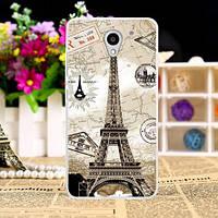 Силиконовый чехол бампер для ZTE Blade A510 с картинкой Париж открытка