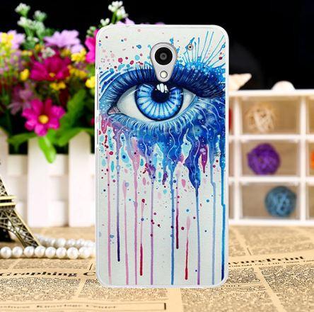Силиконовый чехол бампер для ZTE Blade A510 с картинкой Синий глаз