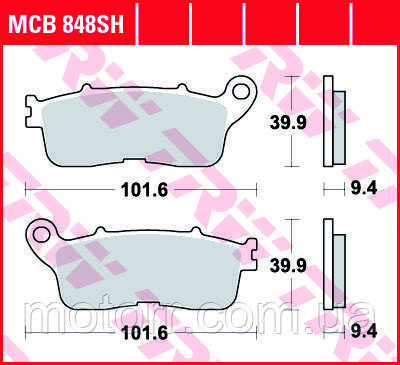 Тормозные колодки TRW / LUCAS MCB848SH