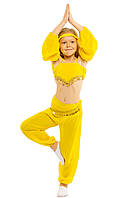 Костюм карнавальный Восточная красавица жёлтый