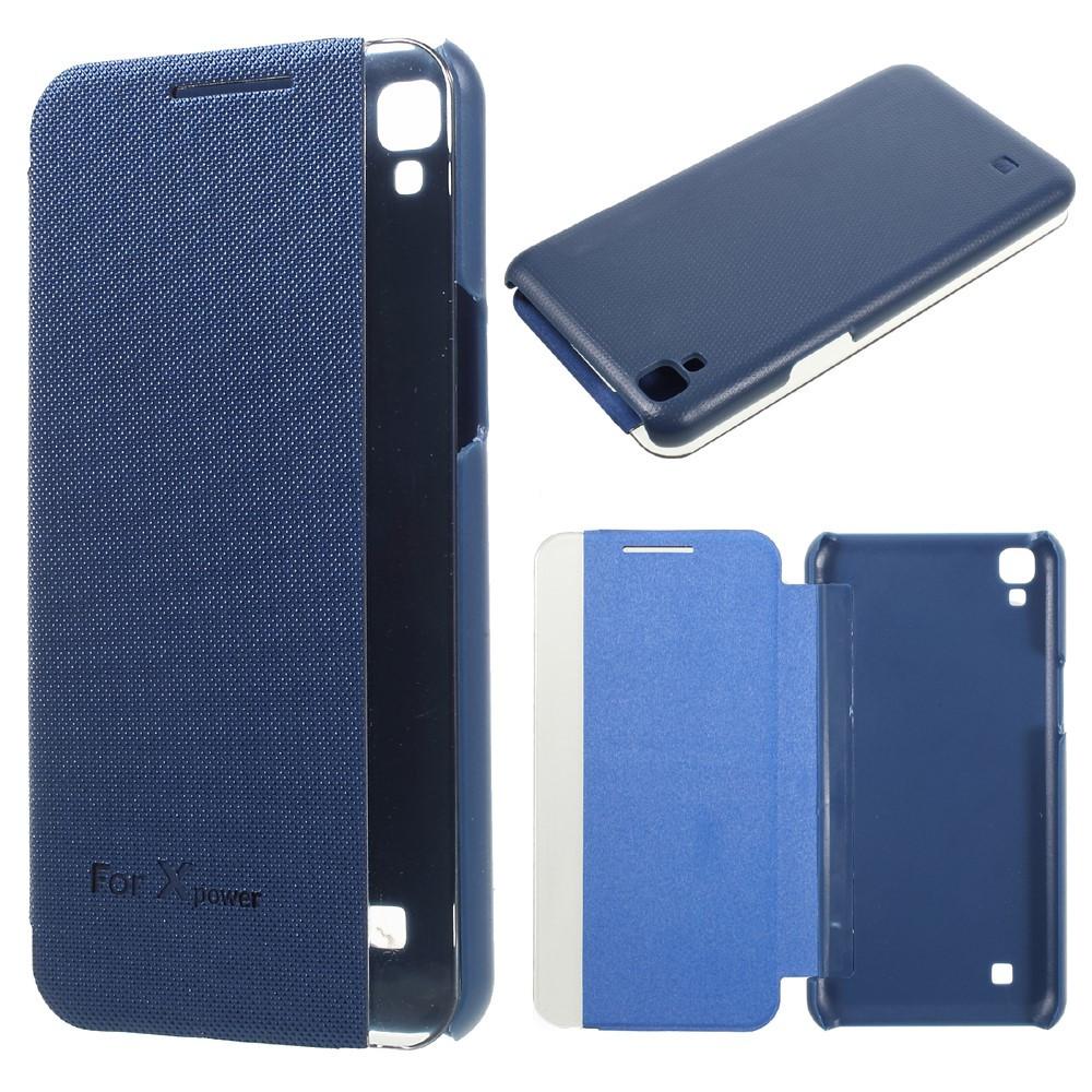 Чехол книжка для LG X Power K220DS боковой ORIGINAL, Smart Cover, Синий