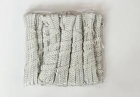 Резинка из полиэстера белая встречный зигзаг 5м