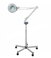 Лампа-лупа на штативе М-2021 на 3 и 5 диоптрий для наращивания ресниц, для косметолога, для медработника