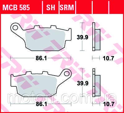 Тормозные колодки TRW / LUCAS MCB585SRM
