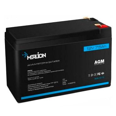 Аккумуляторная батарея MERLION MLB-12-7,5 12V 7,5Ah