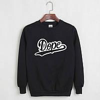 Стильный мужской свитшот Dope (черный, серый)