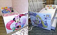 Детские дизайнерские кровати Минни и Рапунцель Кинг Квин для девочек - только для Вас, нарисованы с любовью!