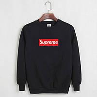 Стильный мужской свитшот Supreme (черный, серый)