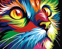 Набор алмазной вышивки Радужный кот 40 х 30 см (арт. FR367)