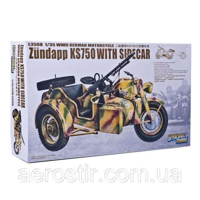 Мотоцикл с коляской Zundapp KS750 1/35 GWH L3508