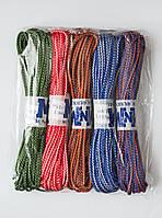 Шнур полипропиленовый твердый цветной 4мм 15м