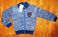 Теплая кофта для мальчика College76 синяя 3-5 лет