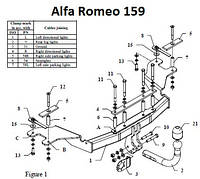 Фаркоп прицепное Alfa Romeo (Украина - Польша - Италия), фото 1