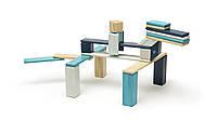 Набор из 24 магнитных деревянных блоков (голубой) Tegu (24P-BLU-508T)