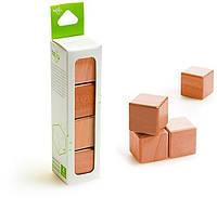 Набор из 4 магнитных деревянных кубиков (красное дерево) Tegu (G-12-010)