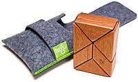 Набор из 6 магнитных деревянных блоков в чехле (красное дерево) Tegu. (P-11-047)