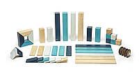 Набор из 42 деревянных магнитных блоков (голубой) Tegu.  (42P-BLU-508T)
