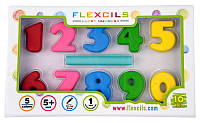 Гибкие Цифры-карандаши + стирательная резинка Flexcils (FLE3D-number)