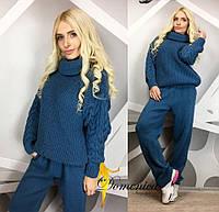 Костюм вязанный брюки свитер