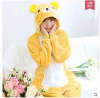 Пижама-кигуруми Мишка желтого цвета с белой грудкой
