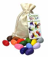 """Карандаши камешки восковые """"Crayon Rocks"""" (16 цветов) тканевый мешочек Crayon (CR16), фото 1"""