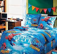Детское постельное белье полуторное человек -паук