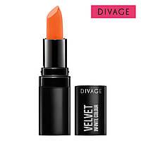 Матовая губная помада VELVET DIVAGE №08 морковный