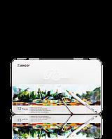 """Карандаши цветные акварельные """"MARCO"""" Raffine в металлическом пенале (12 цветов)  7120-12TN"""