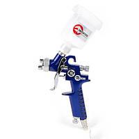 Пистолет покрасочный пневм-ий HVLP мини , форсунка 0,8 мм,верхн.подача,бачок 125 мл.3,0 бар INTERTOOL PT 0101