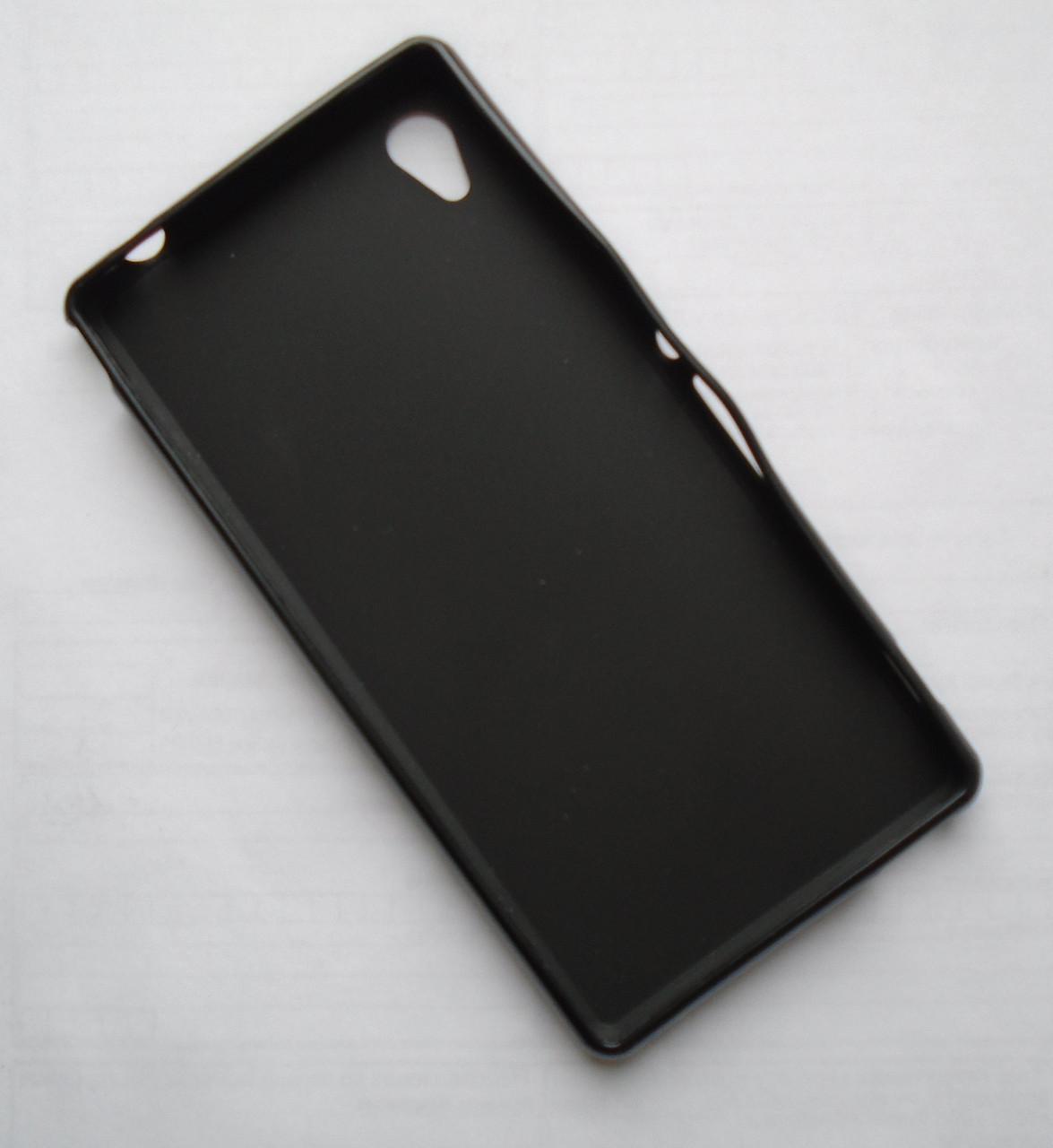 Чехол бампер softcase Sony Xperia M4 Aqua Black