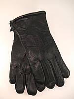 Перчатки мужские из натуральной кожи шерстяная набивка узор-3 косички