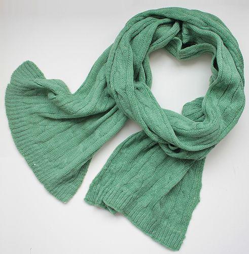 Шикарный женский теплый шарф 180 на 45 dress 2102_зелен