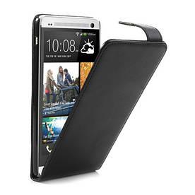 Чехол HTC ONE MAX вертикальный флип, черный