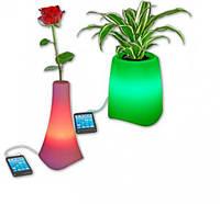 Лампа - Светодиодный горшок для цветов, Ночник, Проигрователь MP3