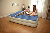 Надувная кровать Intex 67714 (157х203х47 см.) со встроенным электронасосом