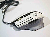 Мышка проводная GM700, компьютерная мышка (черная, белая)
